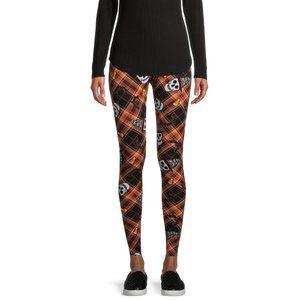 Women's Suede Halloween Skulls Leggings Size 3XL